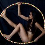 Kamala Devi in hoop
