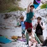 sho family at beach