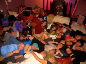 cuddle-a-thon at ZEGG forum facilitation weekend