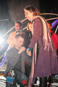Jesse proposes to Jennifer at rox wedding