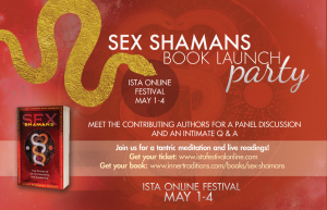 sex shamans book, sex shamans, book launch party, kamaladevi mcclure, ISTA